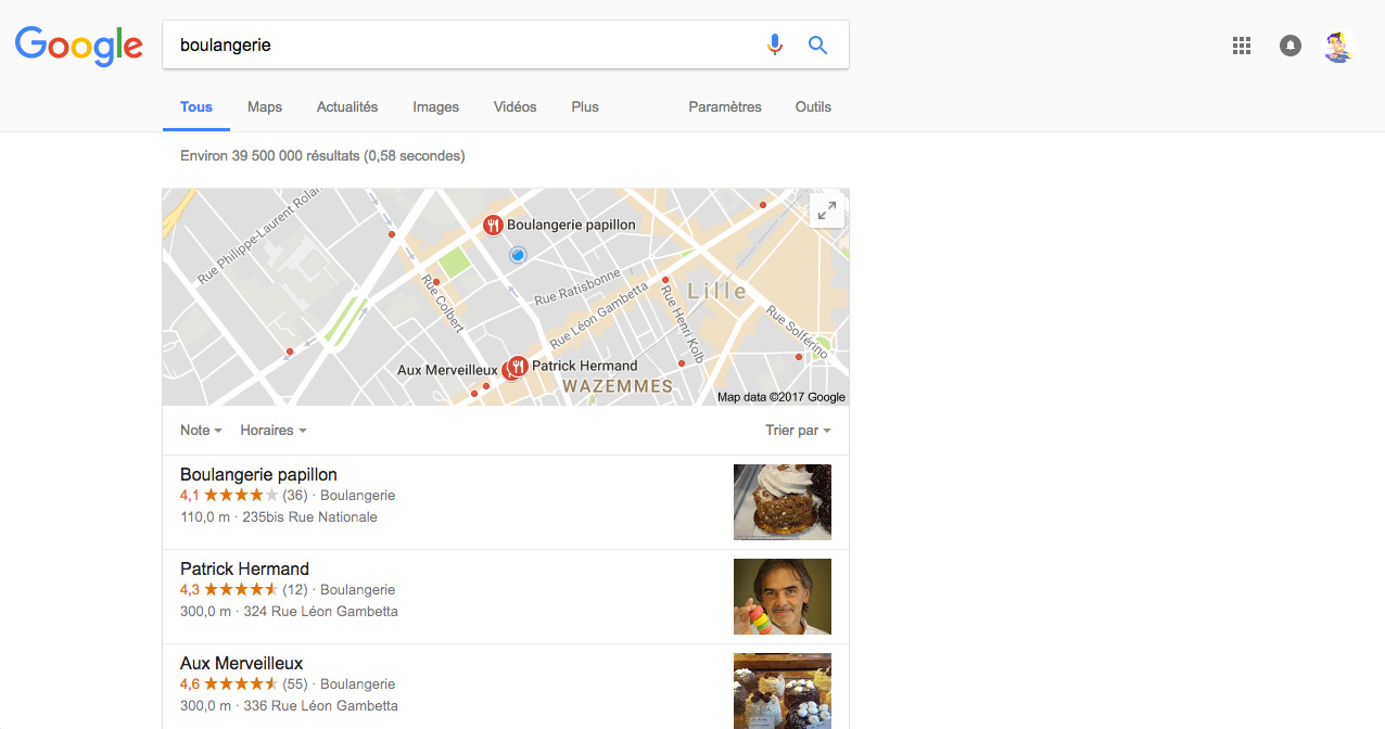 google-my-business-encart