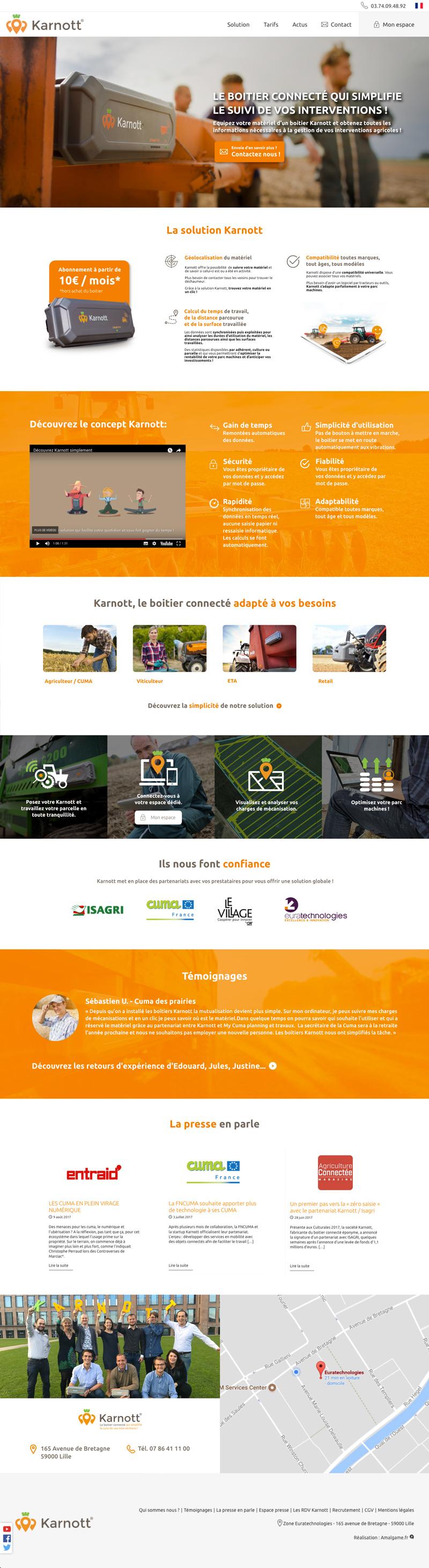 la maquette du site site karnott